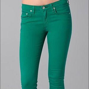 Rag & Bone Teal Skinny Jeans